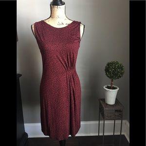 Loft red and black dress